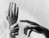 Surreal hands black and white photo Reality and Desire