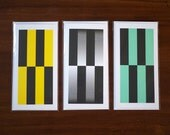 Colour Block Greeting Cards Set of 3