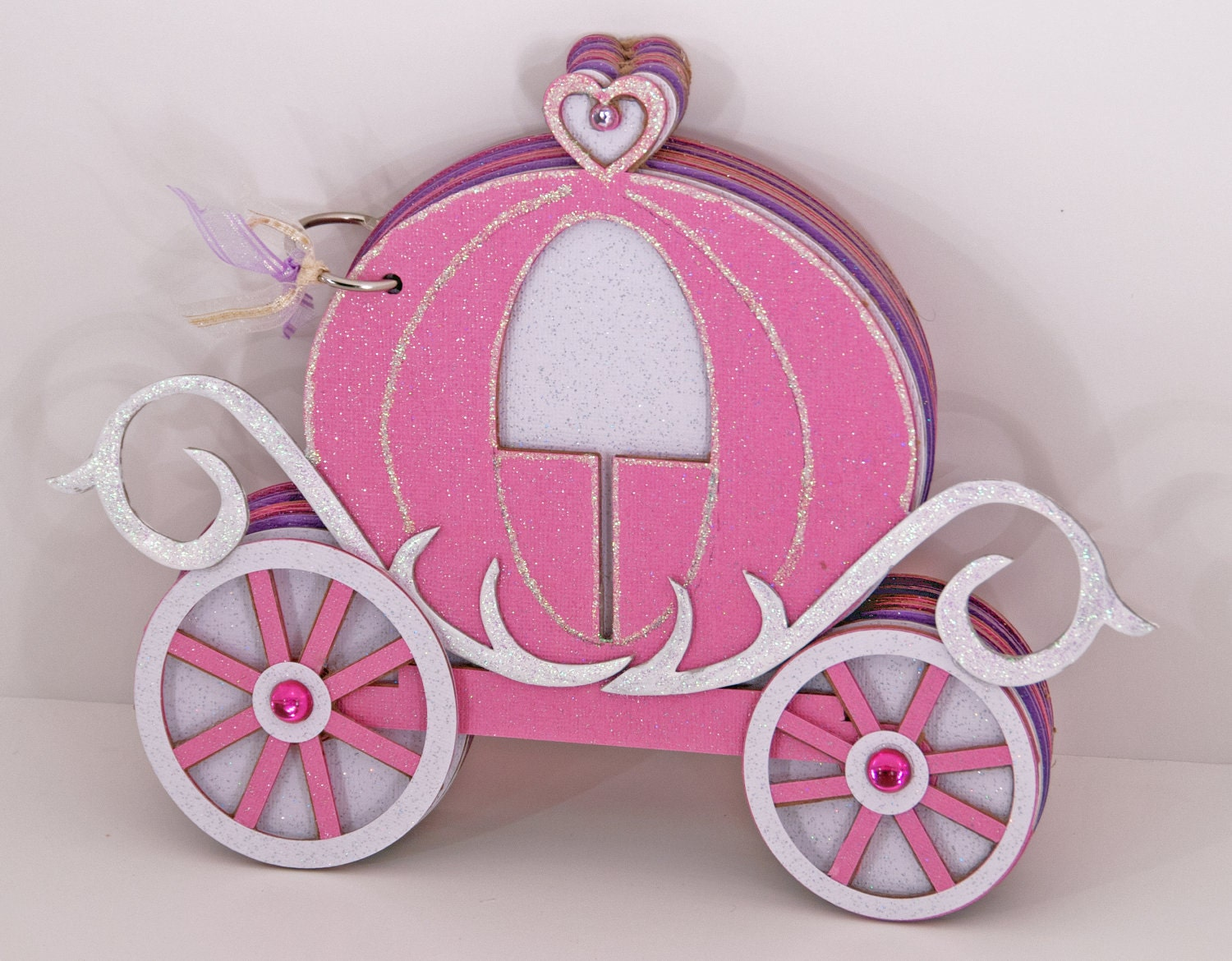 photo album cinderella carriage 14 pages by cabanaarts on etsy