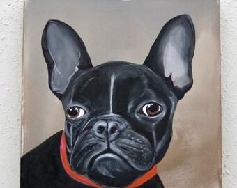 Violetta - Bulldog Portrait/Acrylic on canvas