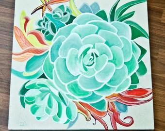 Succulent/Acrylic on canvas