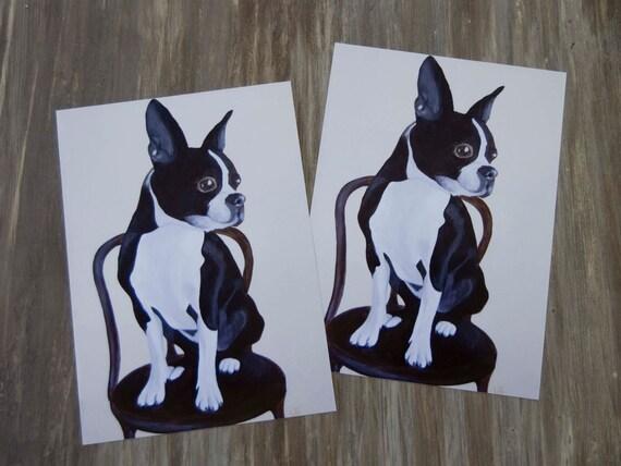 Trevor - Boston Terrier/Print