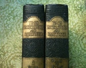 Times Encyclopedia and Gazetteer Vols 1 and 7, beautiful old leather work