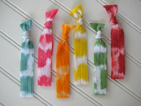 Tie-Dye Bulk Set (Hair ties AND bracelets)