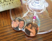 PERSONALIZED Wine Charms: Great for wedding favors and gifts - Set of TWO