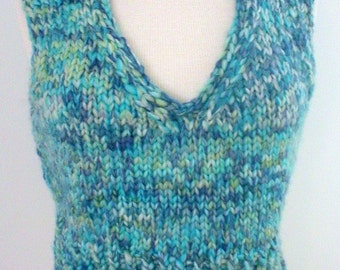 Knitting Pattern Vest Bulky Yarn : Bulky yarn knit vest Etsy