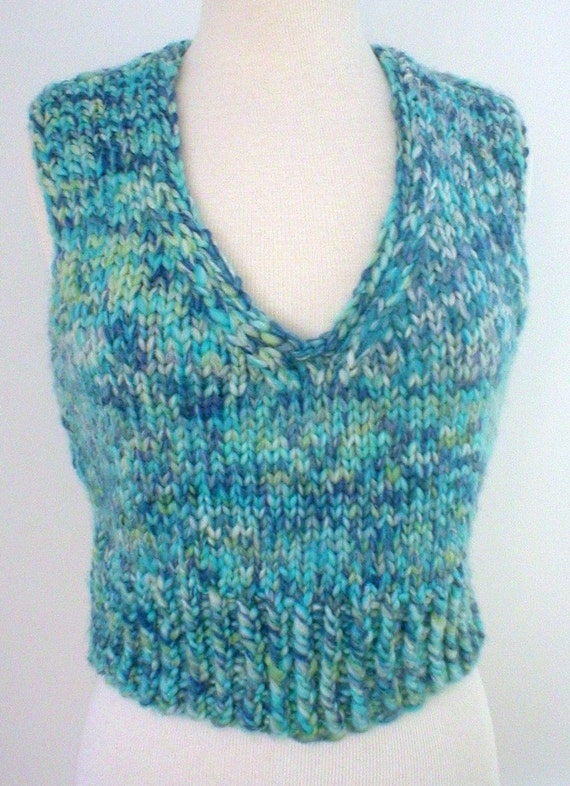 Knitting Pattern-Chill Chaser Vest, quick knit vest pattern, super bulky vest pattern, knit v-neck vest pattern. PDF pattern