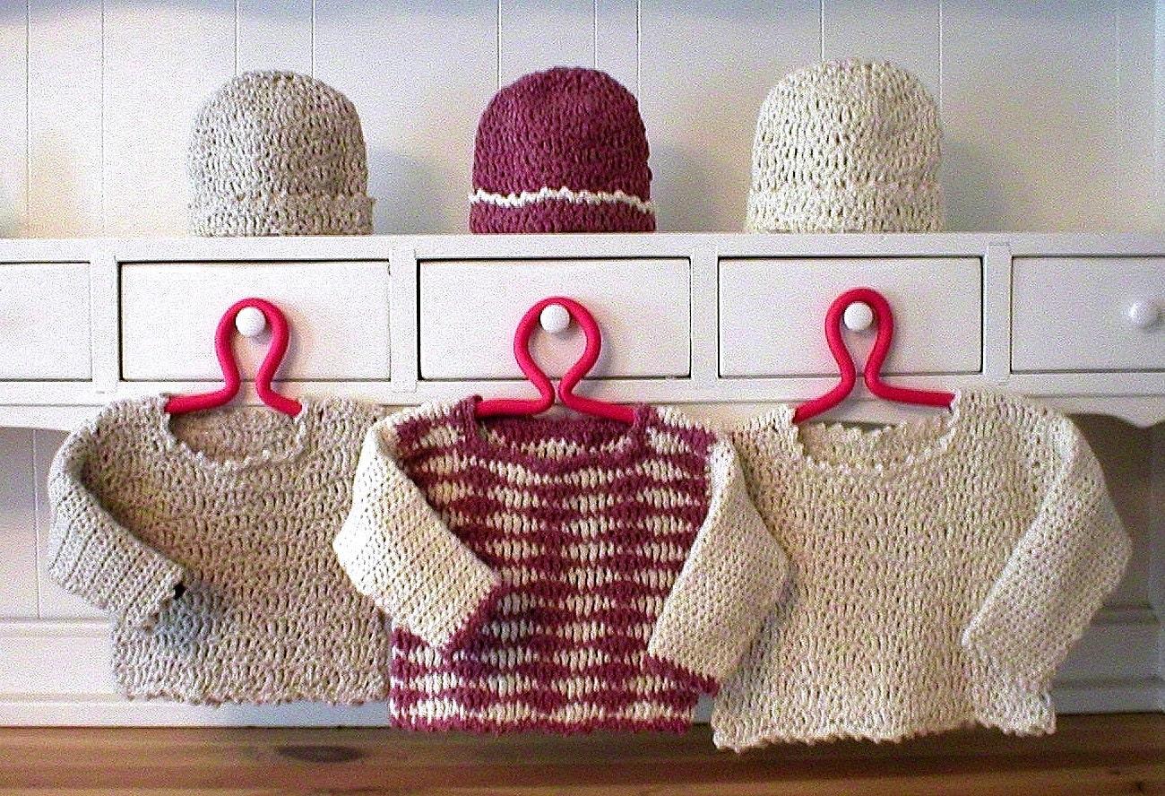 Baby Sweater Hat Set