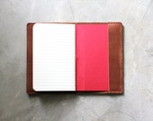 Leather Book Cover - Hand Stitched Leather Custom
