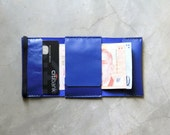 Slim Ori Wallet - Limited Run in Electric Blue - Hand Stitched Travel Leather Custom
