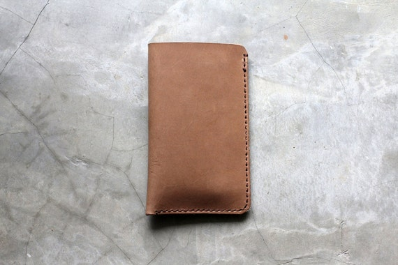Leather Mobile Case - Hand Stitched Leather Custom