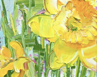 "Fresh Flowers Triptych No.5-3, limited edition of 50 fine art giclee prints (11""x14"")"
