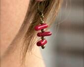 NAVY Dangle Earrings - Coral Stick night & day wear. All seasons