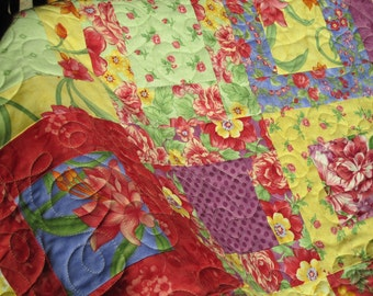 Traditional Patchwork Lap Quilt