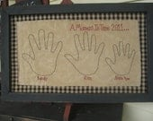 Personalized Primitive Hand Print Frame picture