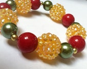 Red Yellow and Green Bracelet