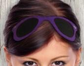 FREE SHIPPING /// Purple Sunglasses Headband