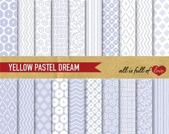 Lavender Digital Paper Pack VIOLET Background Patterns Lilac Gift Wrap Paper hand drawn patterns chevron digital sheet Instant Download