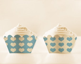 Printable Cupcake Wrappers BABY BLUE Cupcake Holder DIY Instant Download