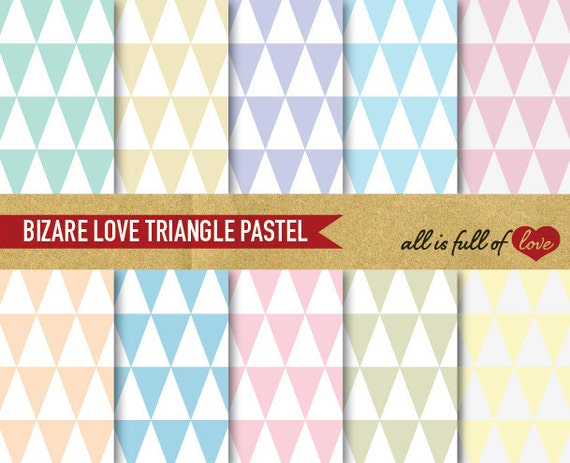 Triangular Digital GRAPHICS Pastel Geometric Digital Paper Pack TRIANGLE Patterns Spring Background sheets patterned cardstock printable