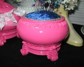 Reserved for Kathy Jaster   Pincushion 'Blue Velvet""