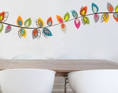 Darjeeling - colorful flower garland wall decal
