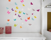 Samara - Peel and stick colorful butterflies sticker