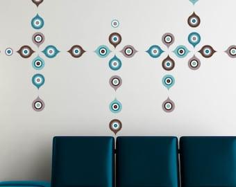 Ignazu - Geometric wall decal - blue / grey