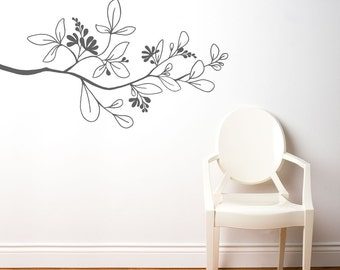 Salento - Branch wall decal - medium grey