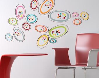 Osaka - Colorful shapes wall decal