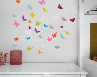 Samara - Peel and stick colorful butterflies sticker