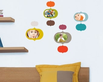 Prague - original and colorful wall sticker frames
