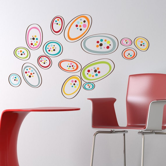 Osaka - Colorful shapes wall decal