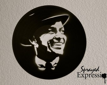 Frank Sinatra Vinyl Record Painting