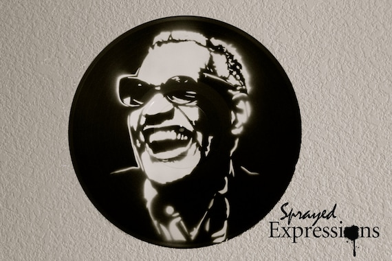 Ray Charles Vinyl Record Painting