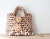 CROCHET PATTERN - Little Girl's Button Purse - Listing01