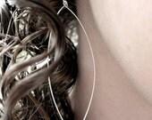 Sterling Silver Wire Pointed Teardrop Earrings