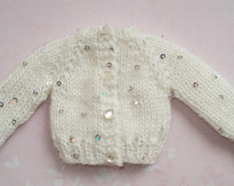Barbie White Knitted Cardigan With Sequins D245