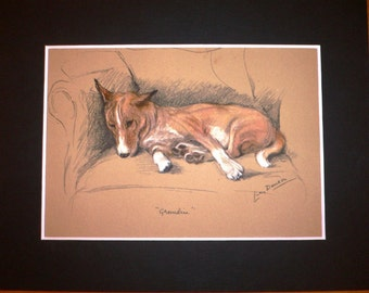BASENJI DOG Signed mounted 1946 Lucy Dawson Mac Gremlin Basenji dog plate print Unique Christmas Thanksgiving gift for any dog lover