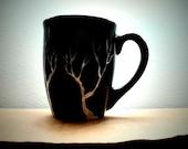 Black Tree Mug