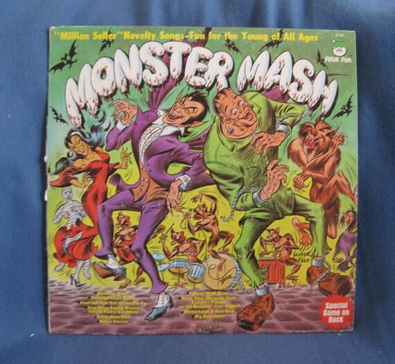 "RARE, Vintage, ""Monster Mash"" Children's, Novelty, Halloween Haunted House Music, Vinyl LP, Record Album, 1977 Peter Pan, Macabre"