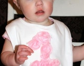 1st birthday bib shabby chic baby other colors available