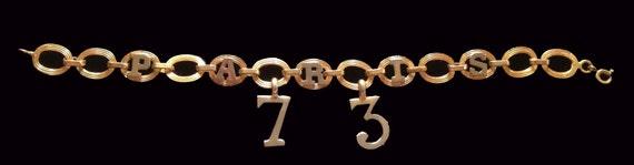Vintage 1973 Paris Gold Charm Bracelet