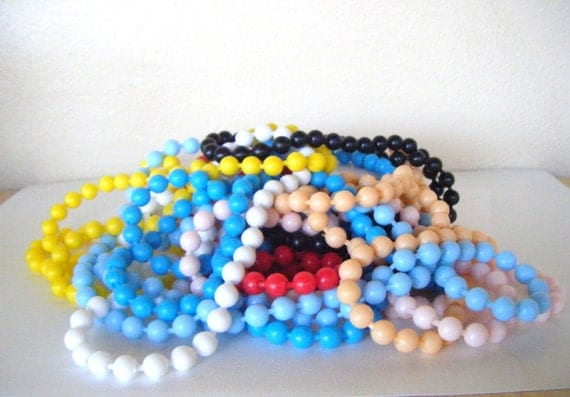 VINTAGE POP BEADS Multi Colored