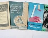 4 Steam Railroad Locomotive Firemen Enginemen Magazines 1930s, 40s - Lot no. 3