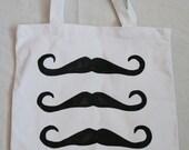 Lisa's Canvas Tote Bag -  Triple Bar Mustaches
