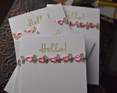 Note Cards Hello (Set 6)