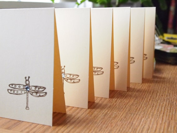 Note Cards Dragon Fly  (6)