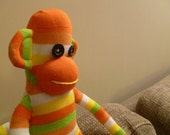 New Handmade Sock Monkey soft decorative toy - Great Gift