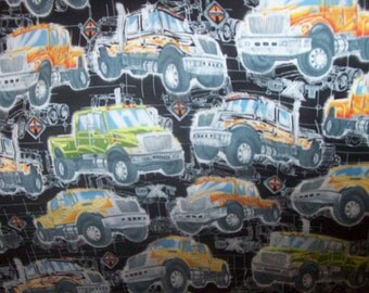 "International trucks fabric 31"" x 42"" wide new 100% cotton multicolor"